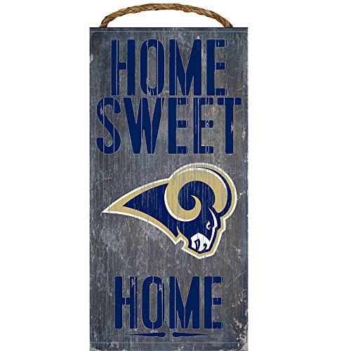 Los Angeles Rams NFL Team Logo Garage Home Office Raum Holz Schild mit Seil zum Aufhängen–Home Sweet Home