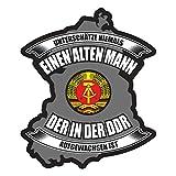 Aufkleber Unterschätze nie einen Alten Mann aus der DDR (Wetterfest)