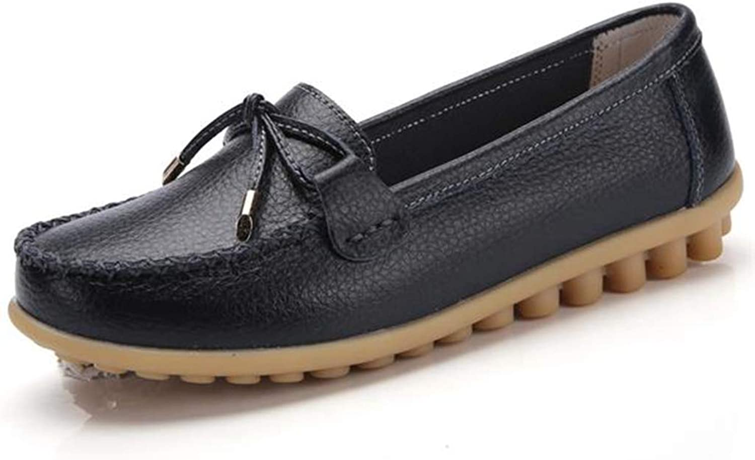 Women's Leather Loafers Fashion Moccasins Casual Comfy Plus Walking Flat Loafer