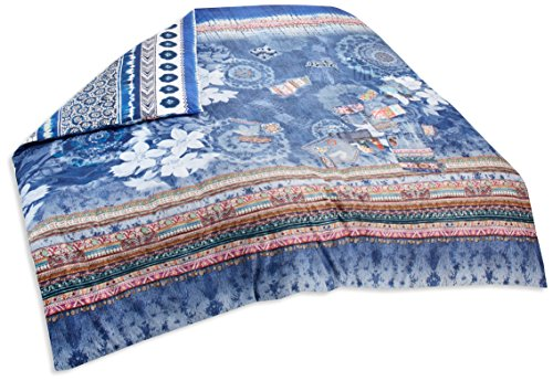 Desigual bed2 _ Exotic 260 * 240 Bettbezug Zwei Person Reversible Baumwolle Jeans Blau 260 x 240 cm