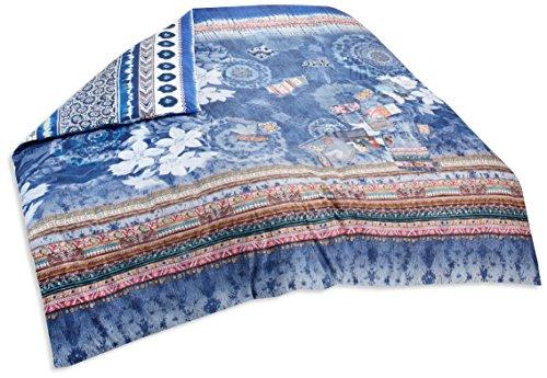 Desigual bed2_ Exotic 260* 240Bettbezug Zwei Person Reversible Baumwolle Jeans Blau 260x 240cm