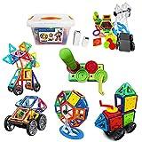 Ragingtrends Bloques magnéticos de construcción de 142 piezas, juego magnético, bloques de construcción Montessori, juguetes magnéticos, perfecto regalo para niños