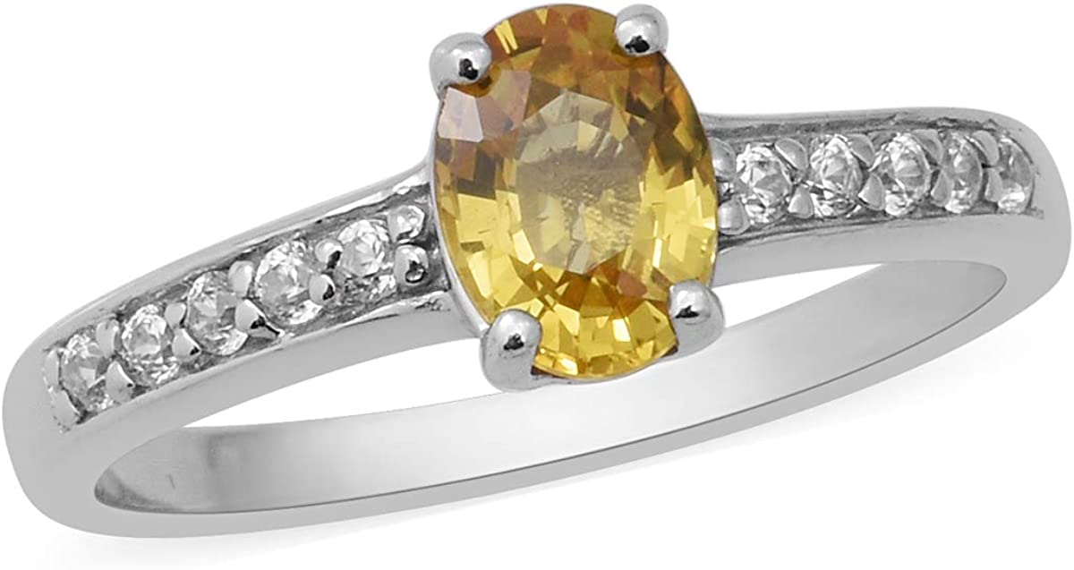 A surprise price is realized Shop LC 925 Sterling Kansas City Mall Silver Sapphire Plated Oval Yellow Platinum