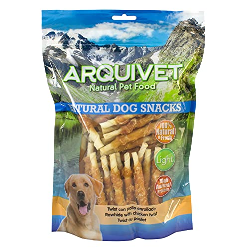 Arquivet Twist con pollo enrollado - Snacks Naturales para perros - Chuches para perros - Golosinas para perro - Premios para tu mascota - 13 cm - 1 kg