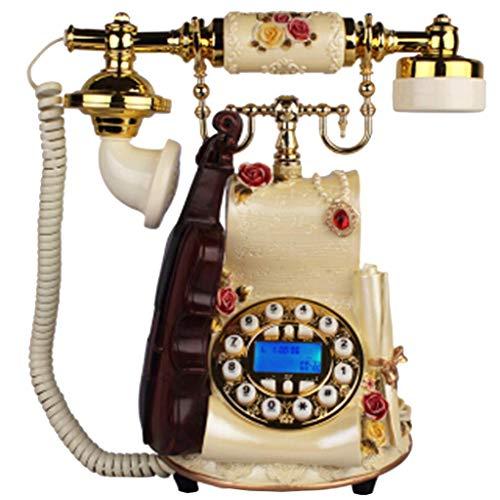 LXYZ Violín - Botón Manos Libres con Pantalla Azul para teléfono Retro, teléfono Fijo Antiguo