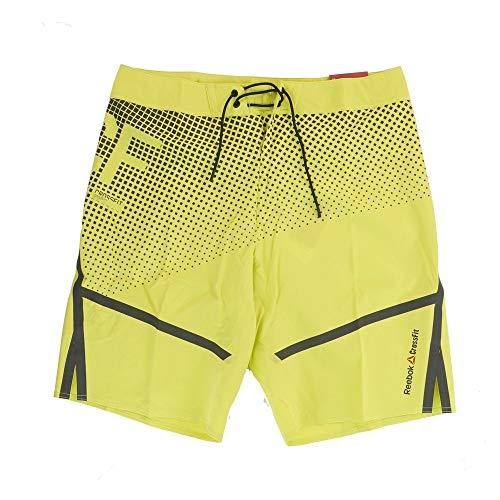 Reebok Men's Crossfit Intensify ii Training (Yellow) Shorts (33)