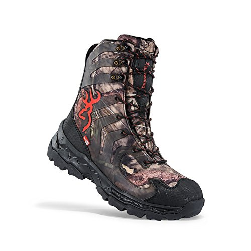 Browning Mens Buck Shadow 8in Big Game Boots, Mossy Oak Country/Black, 10.5M, F000003590233