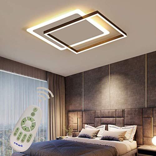 YSNJG Led-kroonluchter dimbaar acryl kroonluchter vierkant design kroonluchter met afstandsbediening slaapkamer woonkamer keuken kantoor ladder 42 * 42 cm [Energiezuinigheidsklasse A ++]