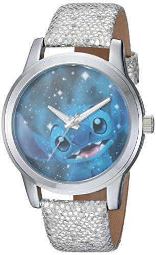 [女性用腕時計]Disney Women's 'Lilo and Stitch' Quartz Metal Casual Watch Color Grey (Model: WDS000355)[並行輸入品]