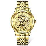 STM32 by ST Dragon Watch Men's Watch Watch Waterproof Luminous Automatic Mechanical watch-9006 SsangYong-All Gold