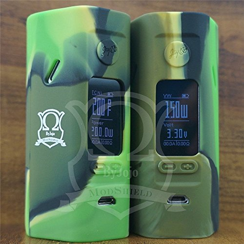 ModShield for Reuleaux RX2/3 Silicone Skin Wismec 150W 200W Cover Case Sleeve Shield ByJojo (Camo (RX2/3, 2 Piece Set))