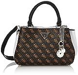 Guess, HWSY81-08050-BWG para Mujer, Logotipo de color marrón y blanco, Medium