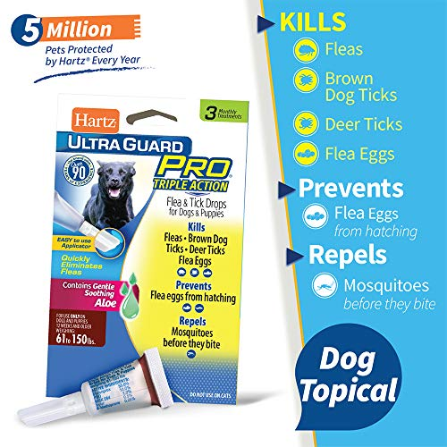 Hartz UltraGuard Pro Topical Flea & Tick Prevention for Dogs and Puppies - 61-150 lbs, 3 Monthly Treatments