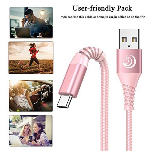 USB Typ C Kabel, USB C Ladekabel [2 Stück 2M+2M] 3A Schnellladekabel Typ C Ladekabel für Samsung Galaxy S10 S9 S8+ S20 Plus A40 A50 A51 A70 A71 A20E, Huawei P30 P20 P10 P40, Sony Xperia, LG, Xiaomi