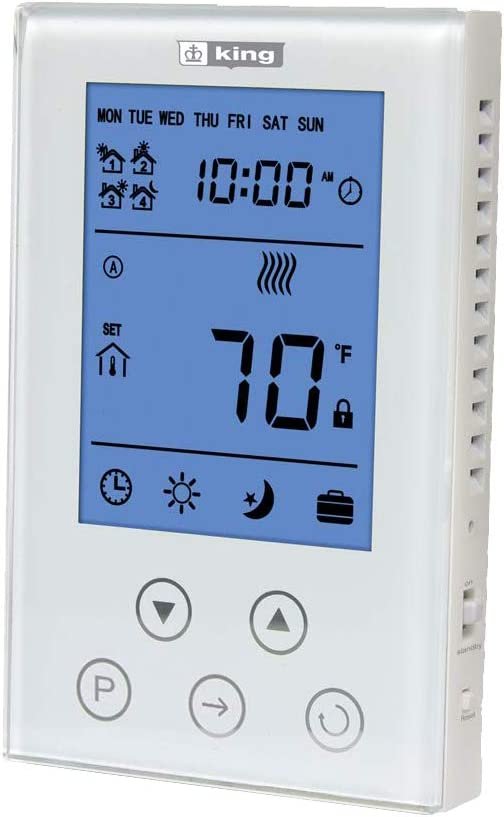 Attention brand KING K302PE Houston Mall ClearTouch Electronic Thermostat Programmable 7-Day