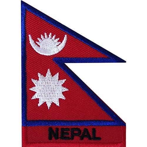 Nepal-Flagge zum Aufbügeln oder Aufnähen, Kathmandu, Nepali, Mount Everest, besticktes Abzeichen