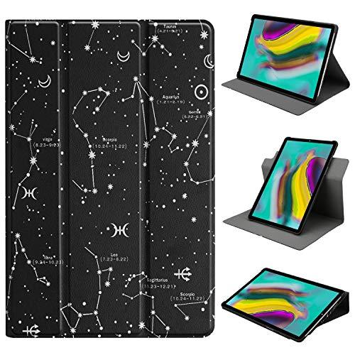 HoYiXi Funda de Soporte Giratorio para Samsung Galaxy Tab A 10.1 Rotación de 360 Grados Funda Smart Cover para Samsung Galaxy Tab A 10.1 T510 / T515 (2019) - Constellation
