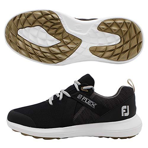 FootJoy Men's Flex Golf Shoes, Black, 9.5 W US