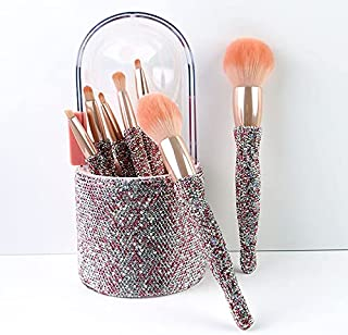 New high-end 8 barrels drumming makeup brush set with water drill eye shadow brush powder powder brush beauty tool Pinkwat...