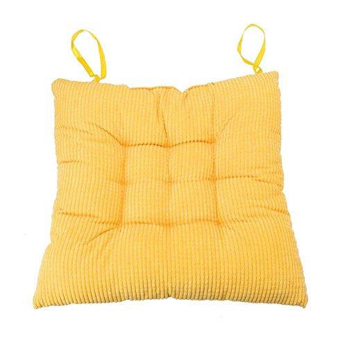DOMYBEST Épaissie Coton Siège Coussin Chaise Arrière Siège Canapé Chaise Oreiller Home Office Decor(Jaune)