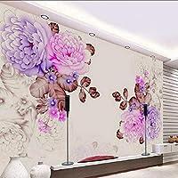 Djskhf ヴィンテージ美しいマホガニー大壁画壁紙壁リビングルーム寝室の壁紙絵画テレビ背景壁紙 200X140Cm