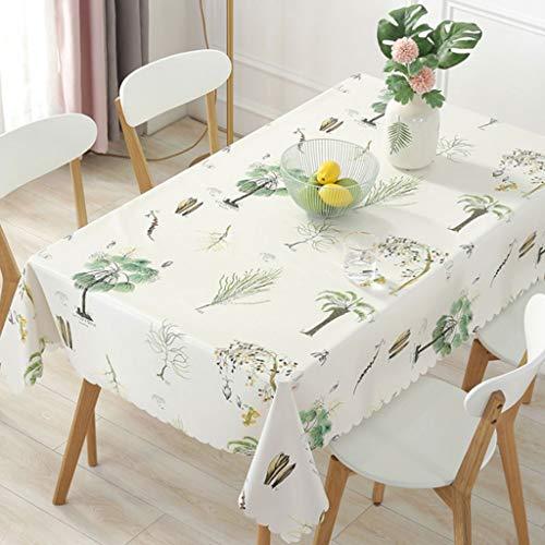 Glzcyoo rechthoek bedrukt tafelkleed, polyester tafelkleed, rimpelvrij, olie-proofwaterdicht tafelblad beschermer voor keuken dineren partij
