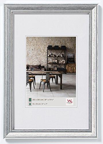 walther design JA050S Bilderrahmen Lounge, 40 x 50 cm, silber