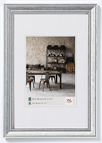 Walther Design JA318S Cornice Lounge, Argento, 13 x 18 cm