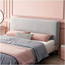 Thicken Headboard Cover for Full Size Bed Washable Anti-Dirty Headboard Protector Dustproof (Color : Grey, Size : 2.0m)