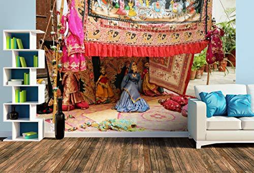 Premium Foto-Tapete Straßenkünstler mit Puppentheater (versch. Größen) (Size L | 372 x 248 cm) Design-Tapete, Wand-Tapete, Wand-Dekoration, Photo-Tapete, Markenqualität von ERFURT