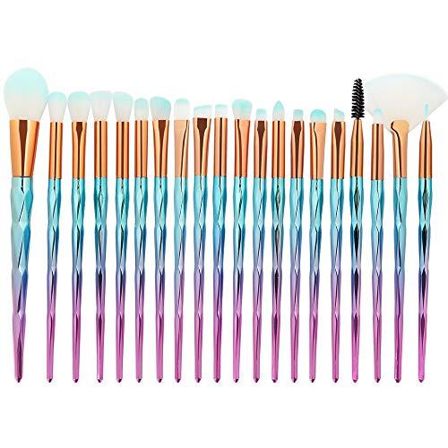 Pinceau de Maquillage Ensemble de pinceaux de Maquillage, Cils diamantés de qualité supérieure pour Sourcils, Ensemble de pinceaux à paupières teintés (10pcs) (Color : 5, Size : One Size)