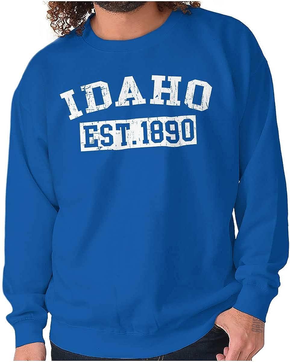 Vintage Max 55% Max 78% OFF OFF Idaho Distressed Established Sweatshirt or Women Men for
