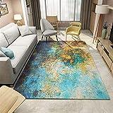 alfombra vinilica salon turquesa