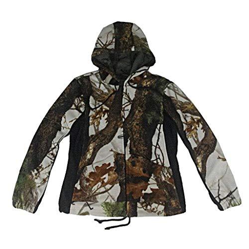 ZPWSNH Camouflage Suits Dames Jungle Onzichtbare Jacht Sport Mountaineering Riding Bionic Camouflage Shirt Plus Velvet Hoodie Jacht pak Herfst Jacht pak