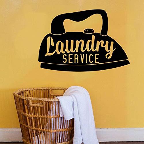 zqyjhkou Vinilo Servicio de lavandería Pegatinas de Pared...