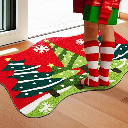 WOHOUS Felpudos navideños (rojo)