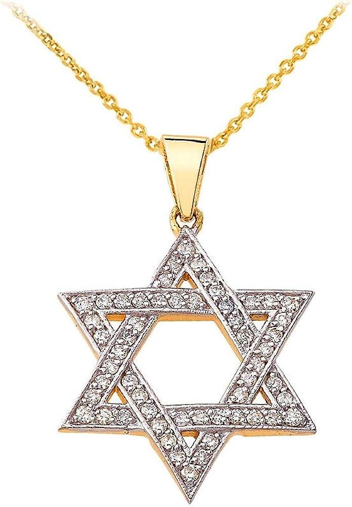 "10k or Jaune Round Chai Juif Kabbalah Dieu Pendentif Charme 0.76/"" diamètre 1.6 G"