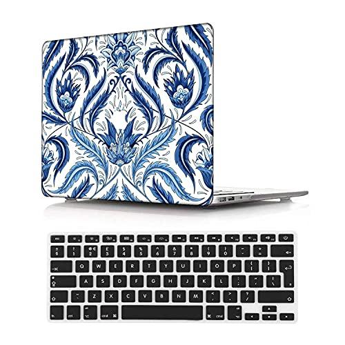 NEWCENT MacBook Pro 15' Funda,Plástico Ultra Delgado Ligero Cáscara Cubierta EU Teclado Cubierta para MacBook Pro 15 Pulgadas con Touch Bar Touch ID 2016-2018 Versión(Modelo:A1707/A1990),Nacional 115