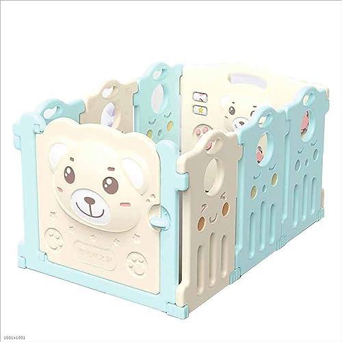 DENGDAI Babyspielzaun, robust aus hochwertigen, ungiftigen Materialien für den Innen-und Au bereich,6+2Panel
