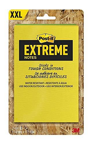 Post-it Extreme Notes – Cuaderno de notas (3 unidades, 76 x 76 mm), color verde y amarillo