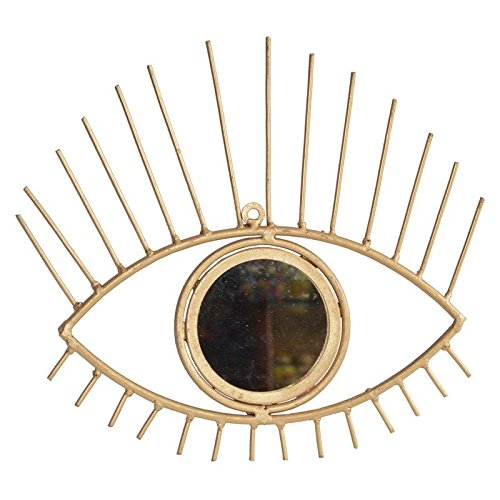 Shri Surya Handicraft Iron Eye with Mirror for Wall Décor Home Protection Wall Hanging for Home Decor