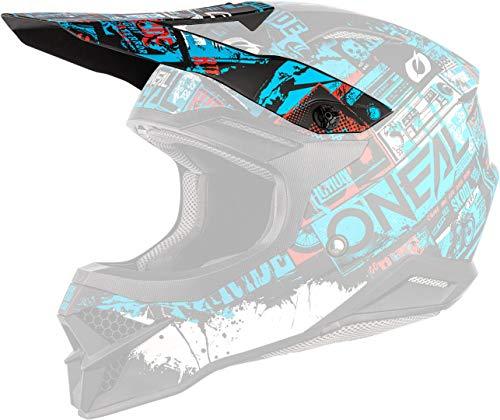 O'NEAL 3 Series Ride Visor Helm Blende Schirm schwarz/blau Oneal