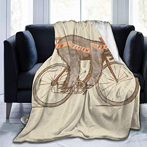 Searster$ Fleece Blanket Bicicleta Ultra Suave Soft Manta de vellón Anti-Pilling Ligero Acogedor Adecuado para Cama Sofá Sofá Campamento