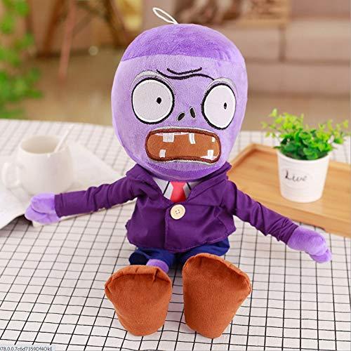 Boufery Lindos Juguetes de Peluche de Plants vs Zombies, Juego de muñecos de Peluche de Zombies vs Plants, Juguetes de Juego Suave para niños, Regalo para niños, 30 cm (púrpura)