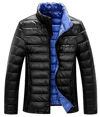 yanghuakeshangmaoyouxiangong Winter Herren Leichte Daunenjacke Outdoor Herren Leichte Daunenjacke Stehkragen Warme Jacke