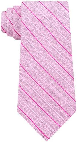 Calvin Klein Mens Bold Life Silk Striped Neck Tie Pink O S product image