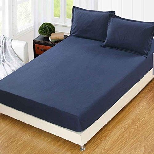 kexinda 3pcs / Set Feste Matratzenbezug Anti-Rutsch-Stretch Bettlaken Antistaubmilbe Bettpolster Matratze Spannbettlaken mit Pillowcase