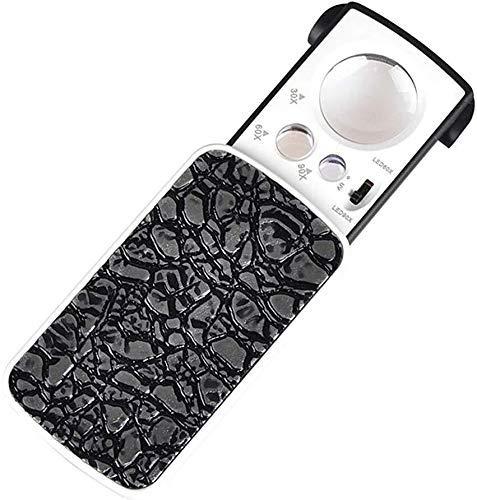 Portátil Pull Handheld HD Mini LED Microscopio de luz Lupa 30 Veces, 90 Veces Que Jade Sellos de Porcelana Reparación de teléfonos móviles