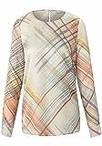 Peter Hahn Langarmbluse Blusen-Shirt zum Schlupfen mit Label-Applikationen Damen