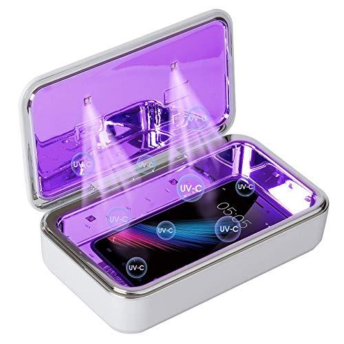 Fortand UV Handy Box, Aroma Diffuser Box mit Drahtloses Ladegerät, Handy UV Licht Box mit Aroma Diffusor Multifunktional UV-C Box für Handy, Brillen, Schlüssel, Uhren